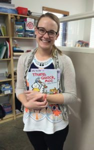 Speech Therapy Therapist Anna with Books for language development