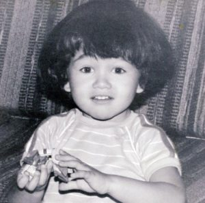 Front Desk Manager Dan as a child in black and white photo