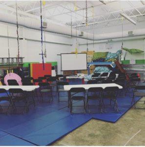 sensory gym during a parent meeting