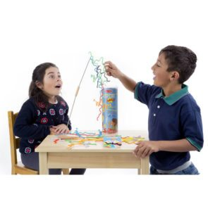 a boy and a girl playing Suspend game
