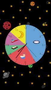 http://appshopper.com/utilities/kids-clock-a-visual-activity-clock-for-kids