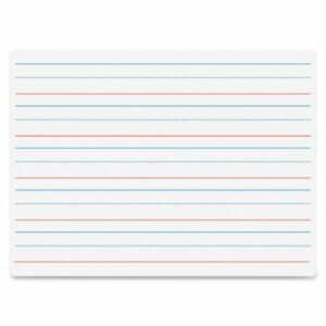 dry erase with guidelines for writing