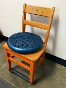wiggle seat on chair for sensory integration