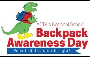 AOTA's National School Backpack Awareness Day graphic