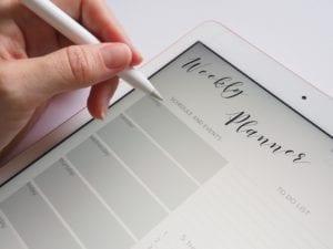 weekly online planner