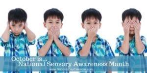 national sensory awareness month banner