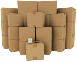set of moving boxes