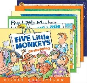 Five Little Monkeys book set