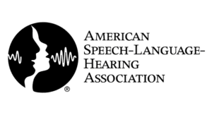 American Speech-Language Hearing Association logo in black