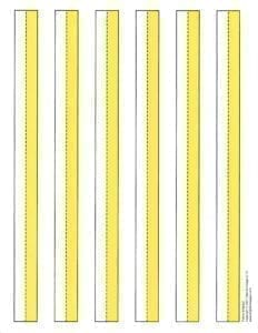 Yellow Three Lined Paper
