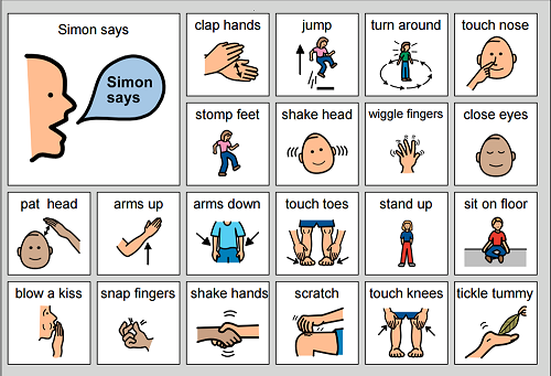 Simon Says, active s free printable activity for healthy